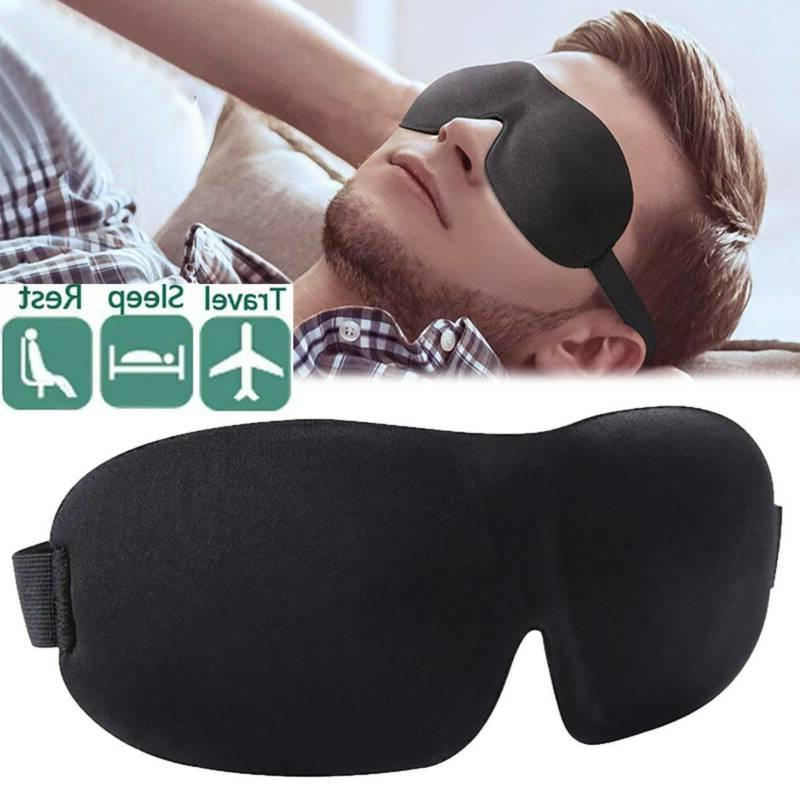 unisex black soft padded blindfold 3d eye