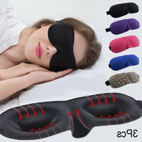 US 3PCS 3D Soft Padded Travel Shade Cover Rest Relax Sleepin