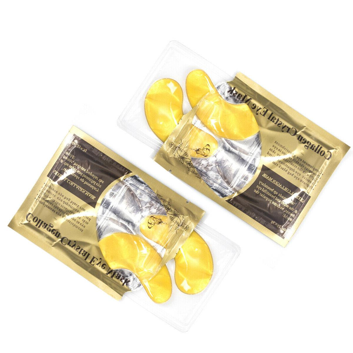 USA Gold Crystal Collagen Eye Patch Pad Circle Bags