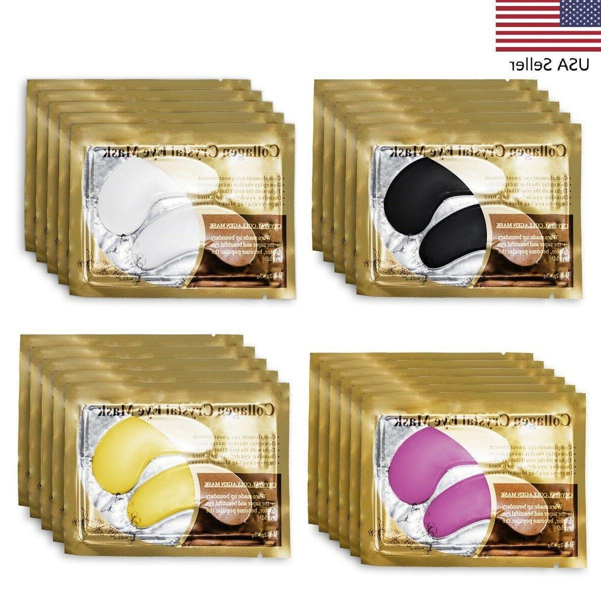usa 20packs gold crystal collagen eye mask