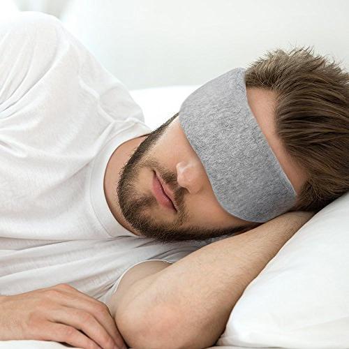 Plemo Velvet Eye Mask Ultra-Soft Light Blocking, Adjustable Breathe-Easy for