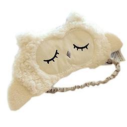 Ayygiftideas Lambs Wool Patch Eye Mask Eyeshade Cover Cute S