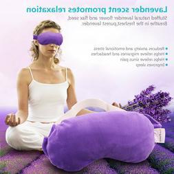 Lavender Sleeping Mask For Yoga Travel Eye Relax  Flax Seed