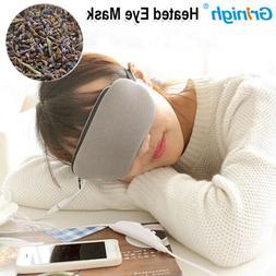Lavender USB Temperature Control Hot Steam Cotton Eye Mask,