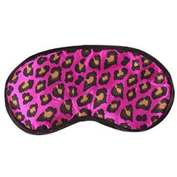 DZT1968® Leopard Print Satin Eye Sleep Mask And Blindfold S