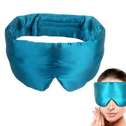 100% Light Blocking Silk Satin Sleep Mask with Earplugs ,S