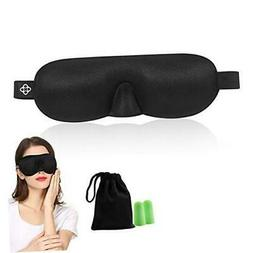 Lonfrote Sleep Mask 3D Contoured Molded Eyes Blinking Lightw