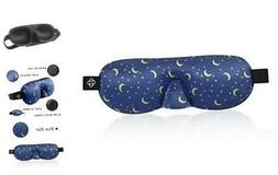 Lonfrote Star Moon Sleep Mask 3D Contoured Molded Eyes Blink