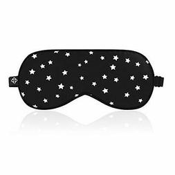 Lonfrote Stars Natural Silk Sleep Mask, Smooth Blindfold Eye