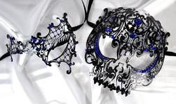 Lovers Collection Men Women Couple Blue BL3 Combo Cut Veneti