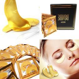 Luxury GOLD Eye Treatment Mask 16 Pairs Reduces Dark Circles
