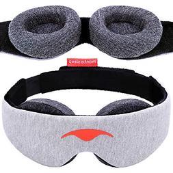 Manta Sleep Mask - 100% Blackout Eye Mask - Zero Eye Pressur
