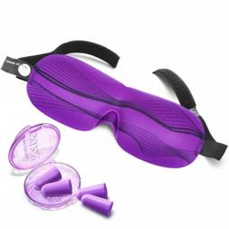Drift to Sleep Eye Mask with 2 Pairs Soft Foam Moldex Ear Pl