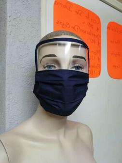 Mask Mouthcover With Clear Eye Plastic Washable One Size Mes