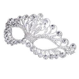 OULII Masquerade Mask Luxury Diamond Rhinestone Fancy Mask P