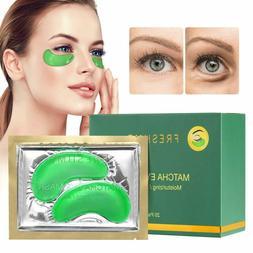 FRESHME Matcha Eye Mask - 20 Pairs Under Eye Patches Aloe Ve