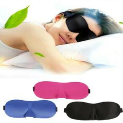 Men&Women 3D Padded Blindfold Eye Mask Soft Travel Sleep Aid