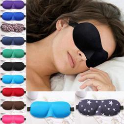 Men&Women 3D Padded Blindfold Eye Mask Soft Travel Sleep Aid