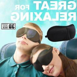 Men & Women 3D Padded Blindfold Eye Mask Soft Travel Sleep A