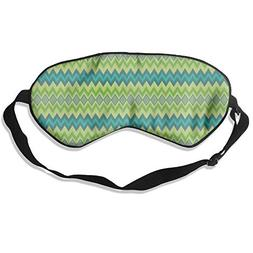 Men and Women Chalk Chevron in Greens Giftwrap  Mask for Sle