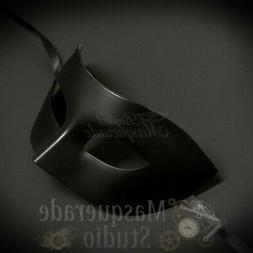 Mens Eye Mask Phantom of the Opera Venetian Minimalist Masqu