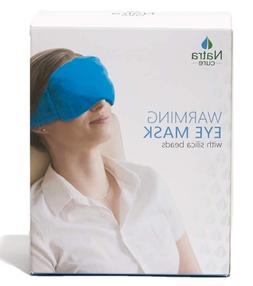 NatraCure Microwavable Weighted Warming Eye Pillow Mask Bran