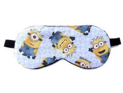 Minions Sleep Eye Mask Blindfold Shade Nap Kid Man Boy Cute