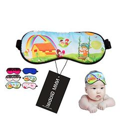 NMM Global 100% Natural Silk Sleep Eye Mask Kids, Cute Night