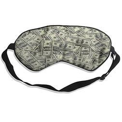 100% Mulberry Silk Sleep Mask Dollar Money Pattern Soft Eye