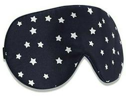 natural eye mask navy with stars adult