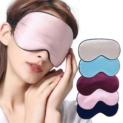 Natural Silk Sleep Mask Blindfold Soft Silky Sleeping Comfor