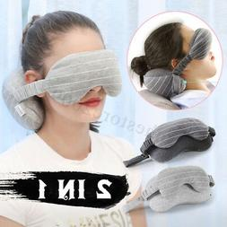 Neck Pillow Eye Mask Portable Travel Head Cushion Flight Air