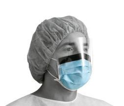 Medline NON27420EL Basic Procedure Face Masks with Shield, B