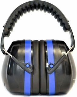 Earmuffs hearing protection with low profile passive folding