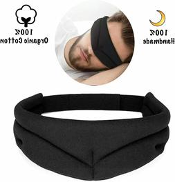 Organic Cotton Eye Mask for Sleeping for Men & Women Blackou
