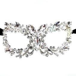 Women's Clear Oval Crystal Glass Rhinestone Royal Venetian M