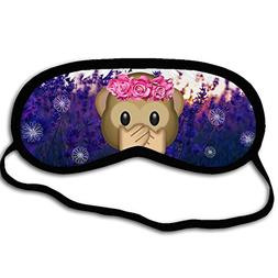 Personalized Sleeping Mask With Monkey Emoji - Comfortable E