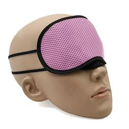 uxcell® Pink Bamboo Charcoal Eye Mask Rest Relax Eyes Pad S