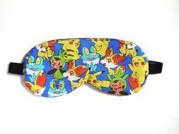 Pokemon Sleep Eye Mask Shade Pikachu Kid Boy Night Blindfold