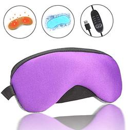 Portable Cold and Hot USB Heated Steam Eye Mask + Reusable I