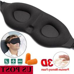 Portable Women Men Blackout 3D Sleep Aid Eye Mask Home Offic