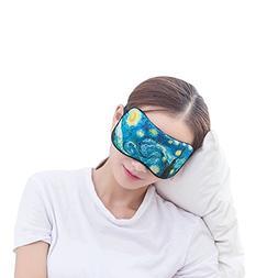 BUYITNOW Printing Silk Sleeping Eyes Mask Lovely Eye Cover f