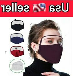 protective face mask with eye shield breathing