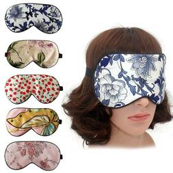 pure natural silk floral print sleep eye