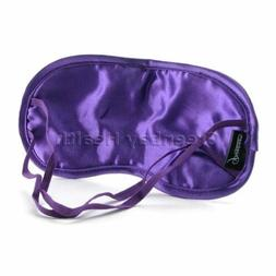 Purple Satin Sleeping Eye Mask Shade Cover Blindfold Pipedre