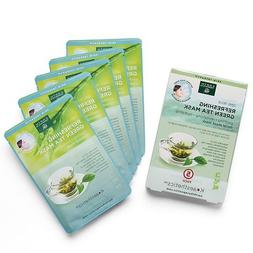 Earth Therapeutics 5 pack Refreshing Green Tea Face Masks
