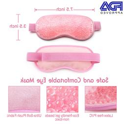 Reusable Hot Cold Gel-Pack Eye mask Pad Rest Spa Relax Sleep