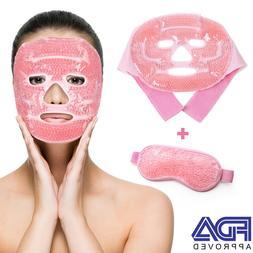 reusable hot cold therapy facial eye mask