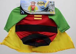 DC Comics Robin Pet Dog Costume Shirt with Detachable Cape &