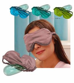 satin eye mask with cooling gel insert